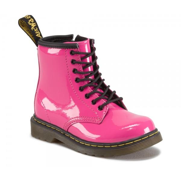Bota rosa charol Martens